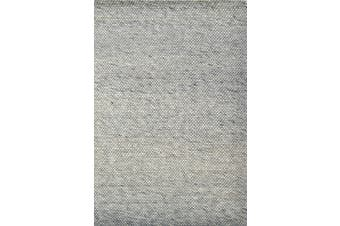 Hand Woven Wool Rug - Adelaide 505 - Silver