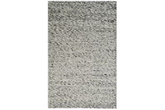 Designer Handwoven Beads Wool Rug - 6218 - Ash Grey