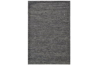 Designer Handwoven Beads Wool Rug - 6218 - Charcoal