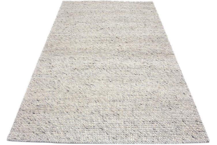 Berlin Flatwoven Modern Wool Rug - 507 - Natural - 110x160cm