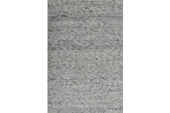 Modern Handwoven Wool Rug - Blocks 6219 - Ash Grey