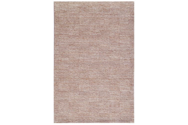 Modern Handwoven Wool Rug - Blocks 6219 - Sand - 110x160cm