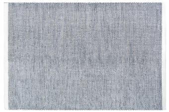Handwoven Reversible Wool Rug - Boondi - Black/White - 200x290cm