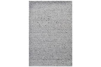Modern Handwoven Wool Rug - Barfi 6220 - Ash Grey