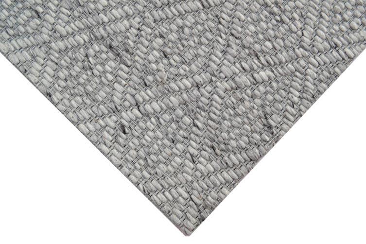 Modern Handwoven Wool Rug - Barfi 6220 - Ash Grey - 110x160cm