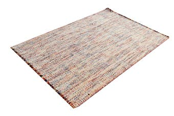 Handwoven Designer Quality Wool Rug - Checkers - Multi - 80x150cm