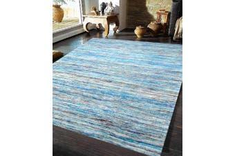 Handwoven Trendy Silk Rug - Chocho 1026 - Aqua Blue - 160x230cm