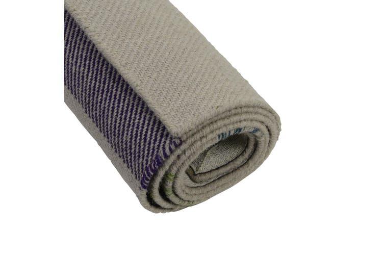 Handwoven Blanket Wool Rug - Kambal - Natural - 160x230cm