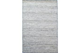 Handwoven Tribal Mira Rug - 1099 - White-Black - 190x280cm