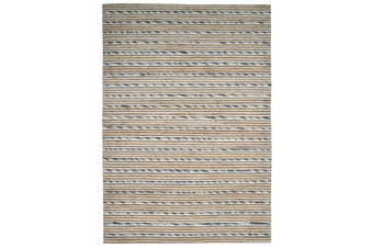 Designer Wool & Jute Rug - Vector M20038 - Natural/Grey