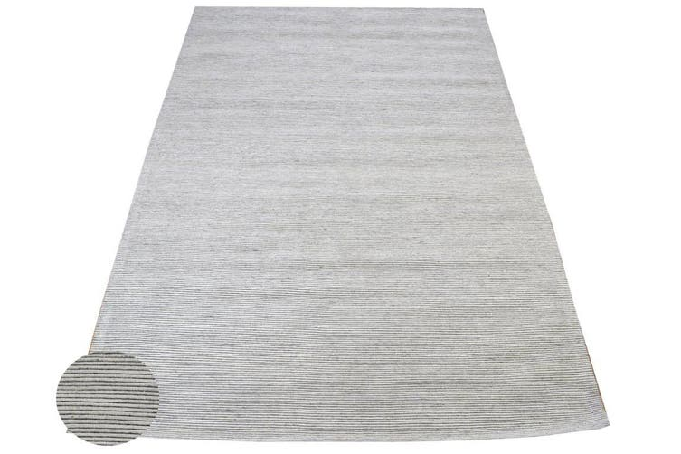 Modern Handwoven Fine Wool Rug - Ridges - Ivory - 160x230cm