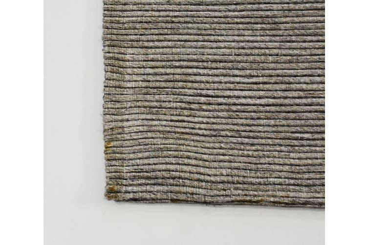 Modern Handwoven Fine Wool Rug - Ridges - Sand - 160x230cm
