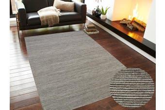Modern Handwoven Fine Wool Rug - Ridges - Sand - 190x280cm