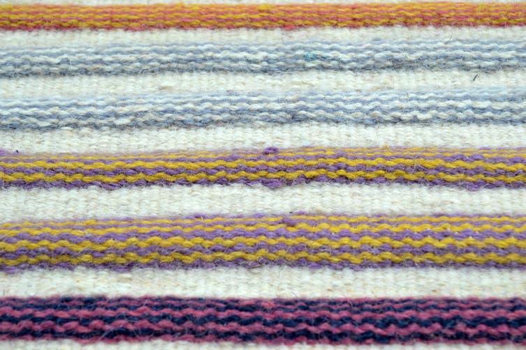Designer Handwoven Striped Wool Rug - Multi - 160x230cm
