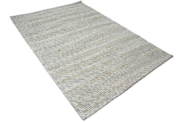 Sua - Flatwoven Modern Wool Rug - 506 - Silver/Gold - 110x160