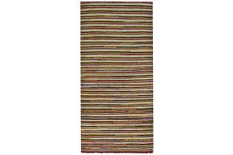 Vibrant Flatwoven Sweden Wool Rug - 6206B - Multi