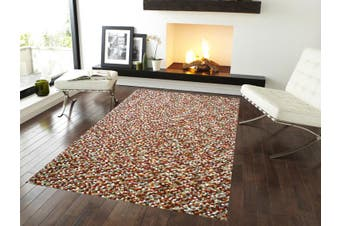 Handwoven Chunky Wool Rug - Jelly Bean - Autumn