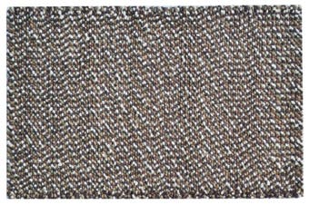 Handwoven Chunky Wool Rug - Jelly Bean - Brown