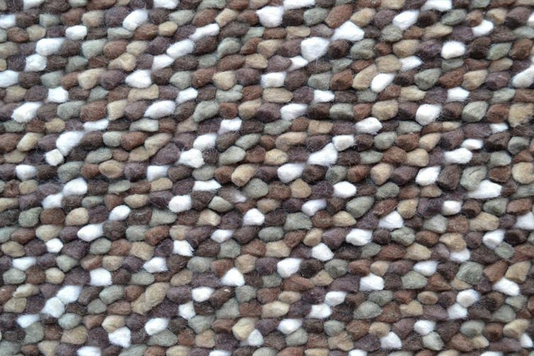 Handwoven Chunky Wool Rug - Jelly Bean - Brown - 80x150cm
