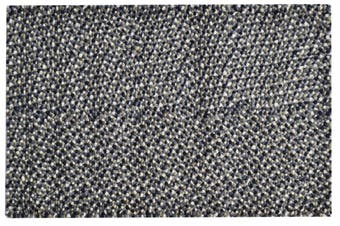 Handwoven Chunky Wool Rug - Jelly Bean - Grey