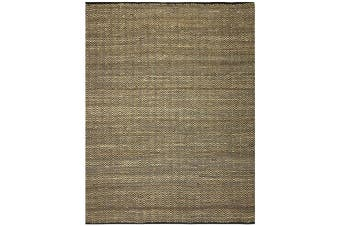 Eco-Friendly Jute Rug-1011-Natural/Black - 160x230cm