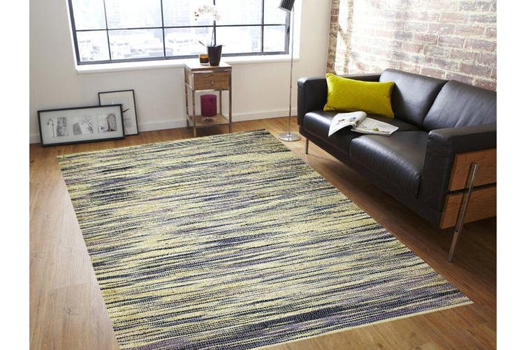 Handmade Jute Rug-Kerla 1003- Blue - 200x300cm