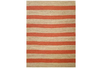 Handmade Jute Rug-Kerla 1020-Natural/Orange