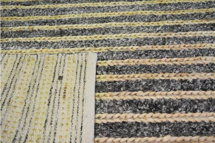 Handmade Wool & Jute Rug - 1430 - Cream/Natural - 160x230cm