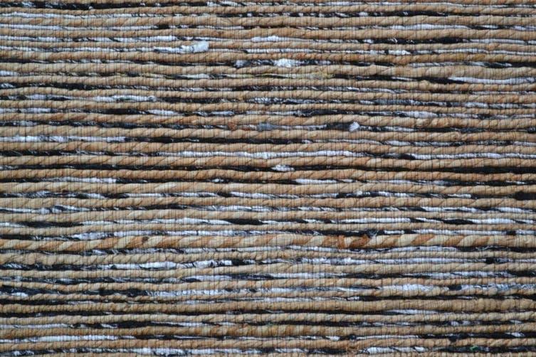 Trendy Handwoven Jute & Silk Rug - Stripe 6001 - Natural/Black - 160x230cm