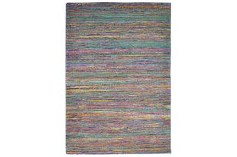 Trendy Hand Woven Jute & Silk Rug - Stripe 6001 - Natural/Multi