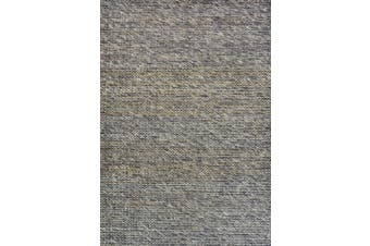 Luxurious Handwoven Wool & Jute Rug - Charcoal