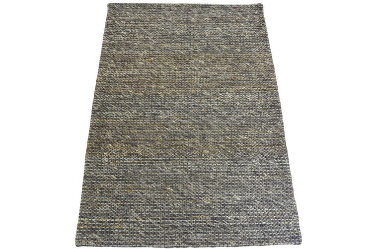 Luxurious Handwoven Wool & Jute Rug - Charcoal - 160x230cm