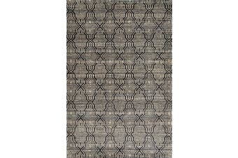 Mirage Handwoven Wool & Jute Rug - Natural/Black
