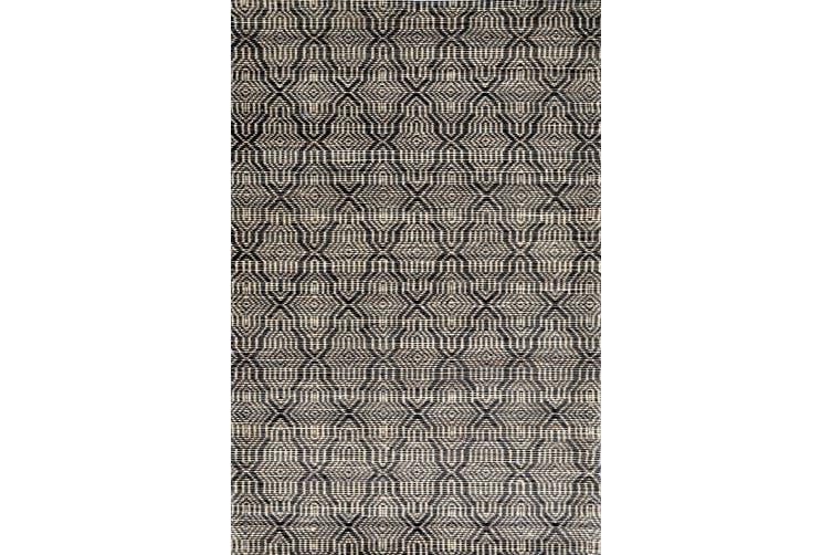 Mirage Handwoven Wool & Jute Rug - Natural/Black - 160x230cm