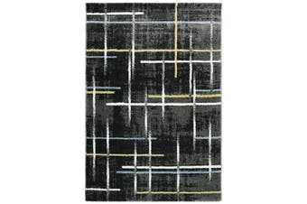 Modern Quality Luminous Rug-597-Antracite/Blue