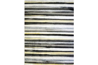 Modern Quality Luminous Rug - 673 - Antracite/DK Grey