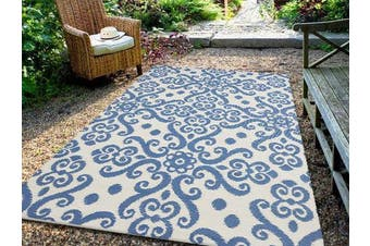 Vibrant & Reversible Outdoor/Indoor Mats - Chatai 2036 - Allure/White