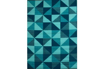 Vibrant & Reversible Outdoor/Indoor Mats - Chatai 2256 - Multi Blue - 180x270