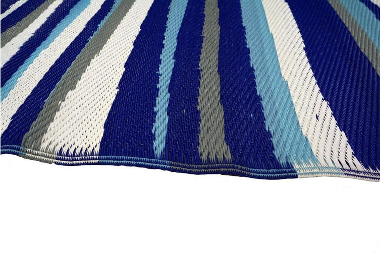 Vibrant & Reversible Outdoor/Indoor Mats - Chatai-2646-Blue - 150x240