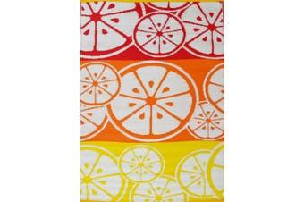 Vibrant & Reversible Outdoor/Indoor Mats - Chatai-2690-Orange Multi - 180x270