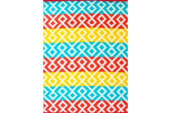 Vibrant & Reversible Outdoor/Indoor Mats - Chatai-2722-Multi
