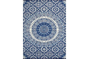 Vibrant & Reversible Outdoor/Indoor Mats - Chatai 2773 - Blue/White