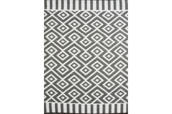 Vibrant & Reversible Outdoor/Indoor Mats - Chatai A002 - Grey/White