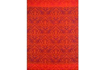 Vibrant & Reversible Outdoor/Indoor Mats - Chatai Peacock - Red - 180x270