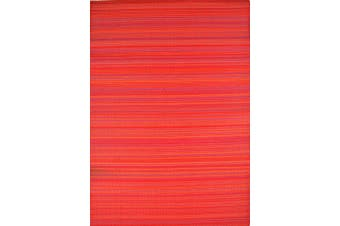 Vibrant & Reversible Outdoor/Indoor Mats - Chatai Rongoli - Red-90x150