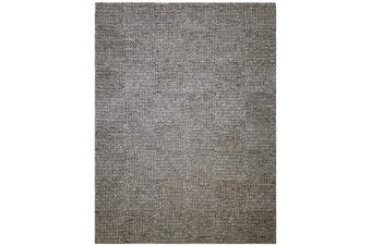 Excellent Quality Handwoven Wool Rug - Braided 1014 - Ash Grey