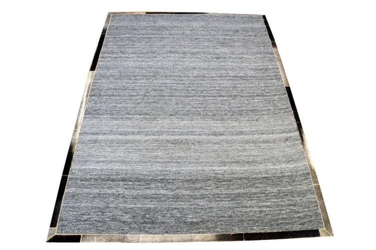 Fine Handwoven Rug - Signature - Charcoal/Grey - 160x230cm