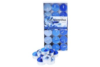 1 Pack of 36pce Agapanthus Scented Tea Light Candes 4 Hour Burning Time