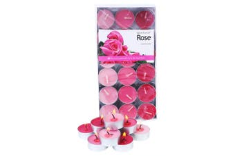 1 Pack of 36pce Rose Scented Tea Light Candes 4 Hour Burning Time