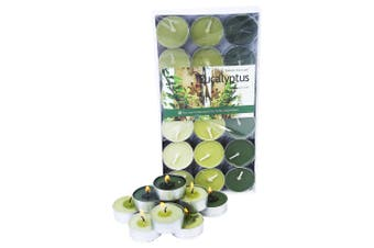 1 Pack of 36pce Eucatyptus Scented Tea Light Candes 4 Hour Burning Time